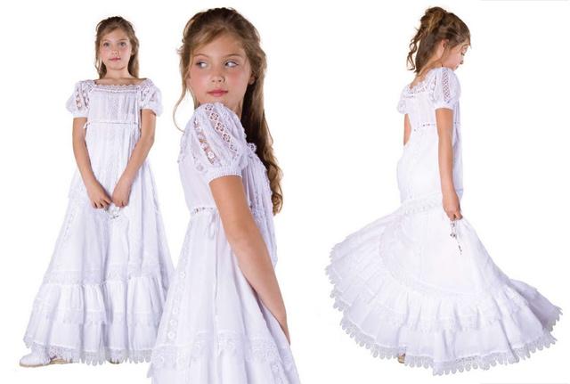 vestido comunion para niña ibicenca